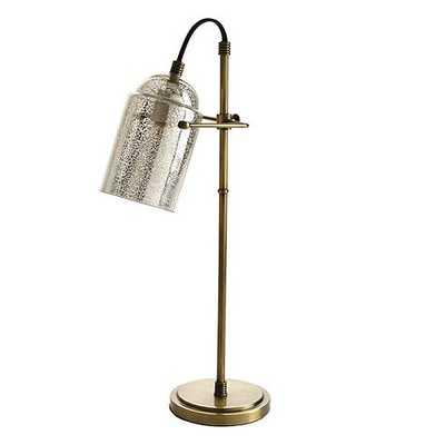 Karen Task Lamp with Mercury Glass Shade - Ballard Designs