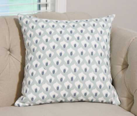 """Blue and Ivory Beach Geometric Pillow Cover- 20 x 20"""",- Insert Sold Separately - Etsy"""