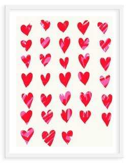 "Jorey Hurley, Hearts-13""L x 15""H-Framed - One Kings Lane"