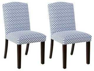 Navy Dot Indio Side Chair, Pair - One Kings Lane