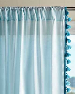 "Tassel Window Panel Aqua-96"" - Domino"