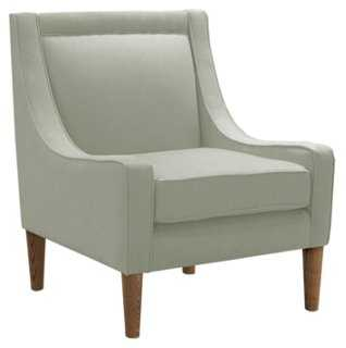 Scarlett Swoop-Arm Chair, Light Moss - One Kings Lane