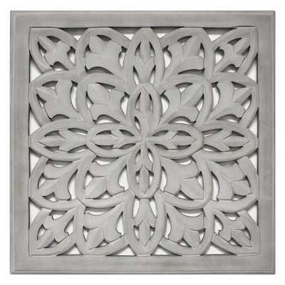 "Carved Wood Panel 18""x18"" - Grey - Target"