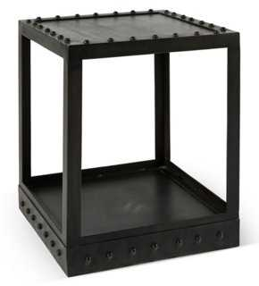 "Thames 20"" Square Iron Side Table, Black - One Kings Lane"