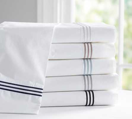 Grand Embroidered 280-Thread-Count Sheet Set - Pottery Barn