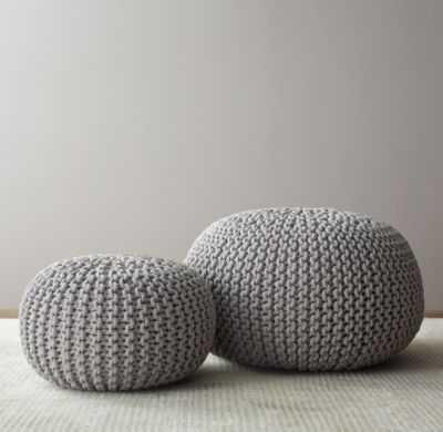 Metallic knit cotton pouf - Small - RH Baby & Child