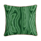 "Corded Throw Pillow: Malachite Amazon - 20""X 20""- Emerald green - Insert Sold Separately - Domino"