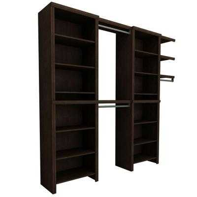 Impressions 72 in. Chocolate Entry Closet (7-Piece) - Home Depot
