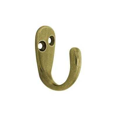 Antique Brass Single Prong Robe Hook - Home Depot