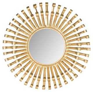 Rayos Sunburst Wall Mirror - Brass - One Kings Lane