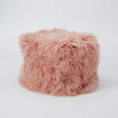 Mongolian Lamb Pouf with insert - West Elm
