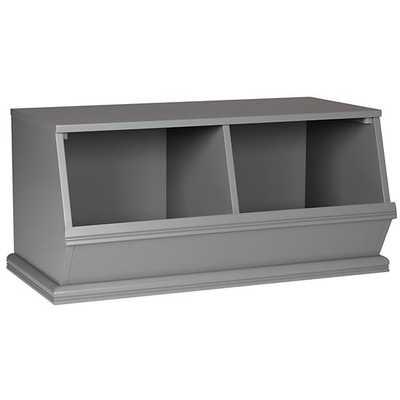 Grey 2-Bin Storagepalooza - Land of Nod