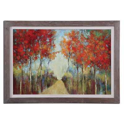 ature's Walk Landscape by Grace Feyock Framed Original Painting - Wayfair