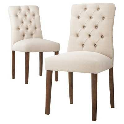 "Brookline Tufted Dining Chair - Set of 2 -Thresholdâ""¢ - Target"