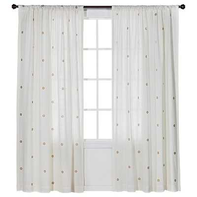 "Metallic Curtain Panel - Cream/Gold - 54"" W x 84""L - Target"