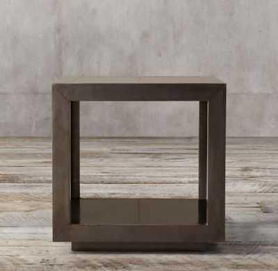 LA SALLE METAL-WRAPPED SIDE TABLE - RH