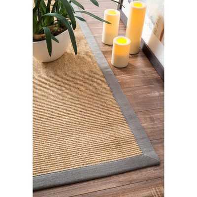 nuLOOM Handmade Alexa Eco Natural Fiber Cotton Border Sisal Rug (8' x 10') - Overstock