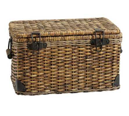 Daytrip Lidded Large Basket - Pottery Barn