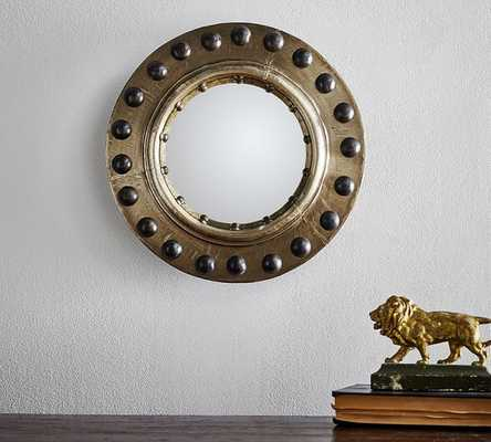 RIVETED PORTHOLE CONVEX WALL MIRROR - Pottery Barn