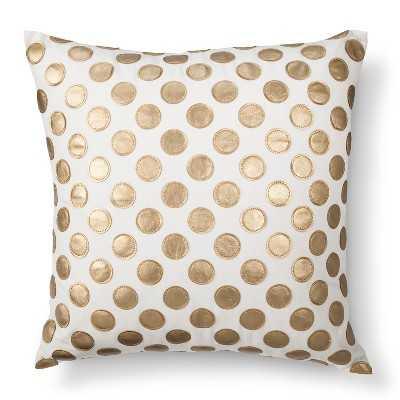 Leather Applique Polka Dot Toss Pillow - Target