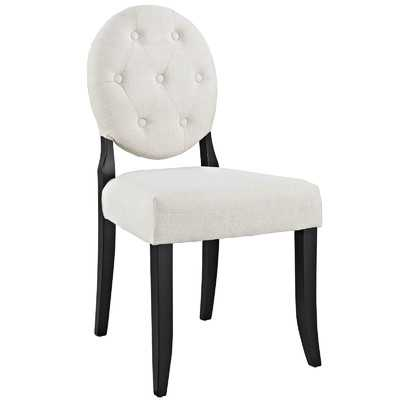 Button Side Chair - Beige - Wayfair
