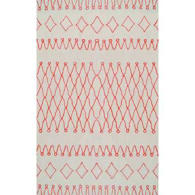 Hand-tufted Tribal Orange UV Polyester Area Rug - Overstock