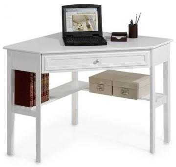 OXFORD CORNER WRITING DESK - WHITE - Home Decorators