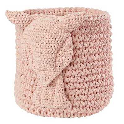Wee Woodland Crochet Bin (Pink Deer) - Land of Nod