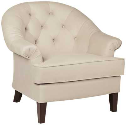 Kash Cream Fabric Upholstered Armchair - Lamps Plus
