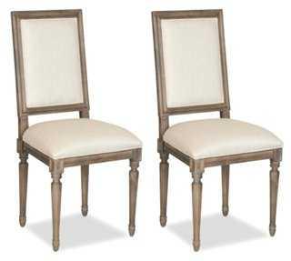 Beige Meade Side Chair, Pair - One Kings Lane