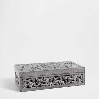 WOODEN OPENWORK BOX - Zara Home