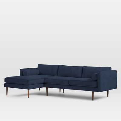 Monroe Mid-Century 2-Piece Chaise Sectional- Right Chaise - West Elm