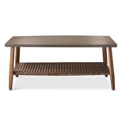 Mayhew Wicker/Steel Coffee Table - Target