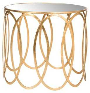 Gwen Mirrored Side Table - One Kings Lane