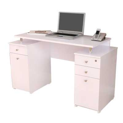 Laura Computer Desk with Accessory Drawers - Wayfair