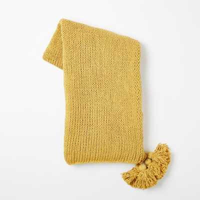 Cotton Tassel Throw - Horseradish - West Elm