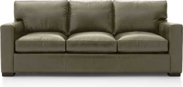 Axis II Leather 3-Seat Sofa - Storm - Crate and Barrel