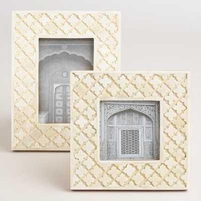 "Bone Inlay Frames - 4"" x 4"" - World Market/Cost Plus"