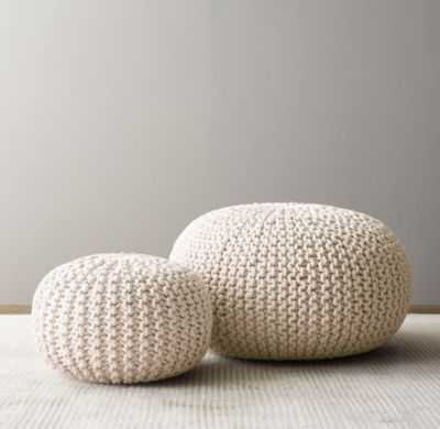 metallic knit cotton pouf-Large - RH Baby & Child