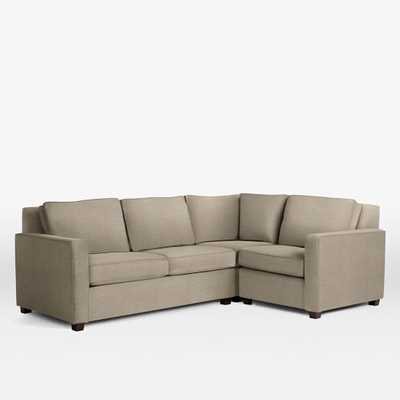 Henry® Right Facing 3-Piece Sectional - West Elm