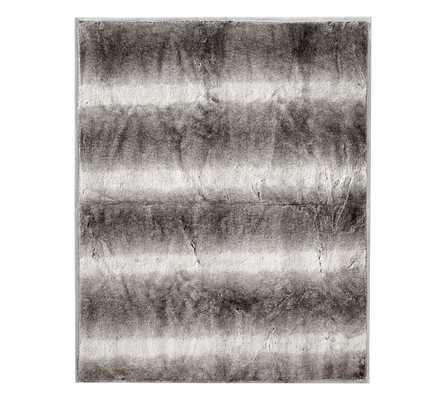 "FAUX FUR OVERSIZED THROW, 60 X 80"", CARAMEL OMBRE - Pottery Barn"