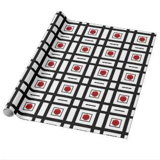 Rose pattern red modern wrapping paper - zazzle.com