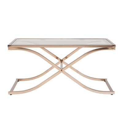Upton Home Ambrosia Champagne Brass Cocktail/ Coffee Table - Overstock
