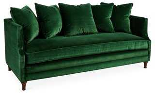 "Dumont 85"" Velvet Sofa - One Kings Lane"