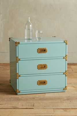 Lacquered Wellington Three Drawer Dresser - Mint - Anthropologie