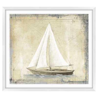 Map Boats Graphic Art Shadow Box 32.5x38.5 framed - Wayfair