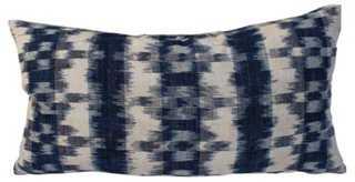 French Blue & White Ikat Pillows - One Kings Lane