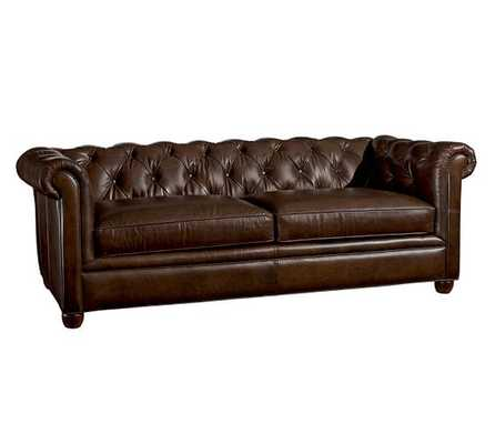 Chesterfield Leather Sofa - Pottery Barn