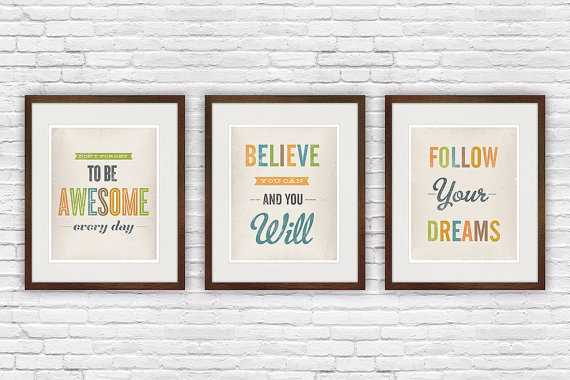 Retro quote print - Set of 3 - Etsy
