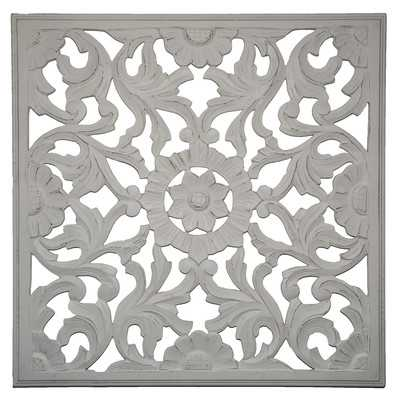 Zaria Handcrafted Medallion Wall Decor - Distressed Gray - Wayfair